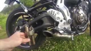 Yamaha Mt-07 Akrapovic exhaust No DB killer