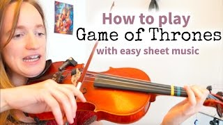 How to play Game of Thrones (Easy Version) | Beginners Song | Violin Tutorial (Close up)