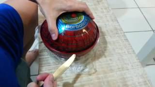 Abrindo a lata de queijo do reino