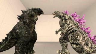 [SFM]Godzilla and Godzilla 2014 width=