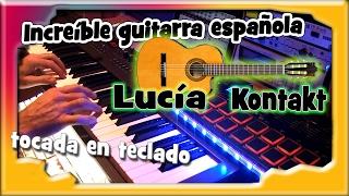 Increible guitarra española para Kontakt tocada en teclado.