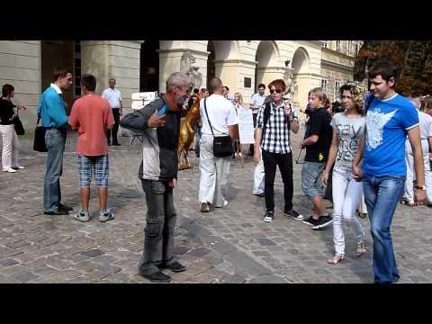 Lviv, Lemberg,Ukraine, Львов Украина  drunk guy 445
