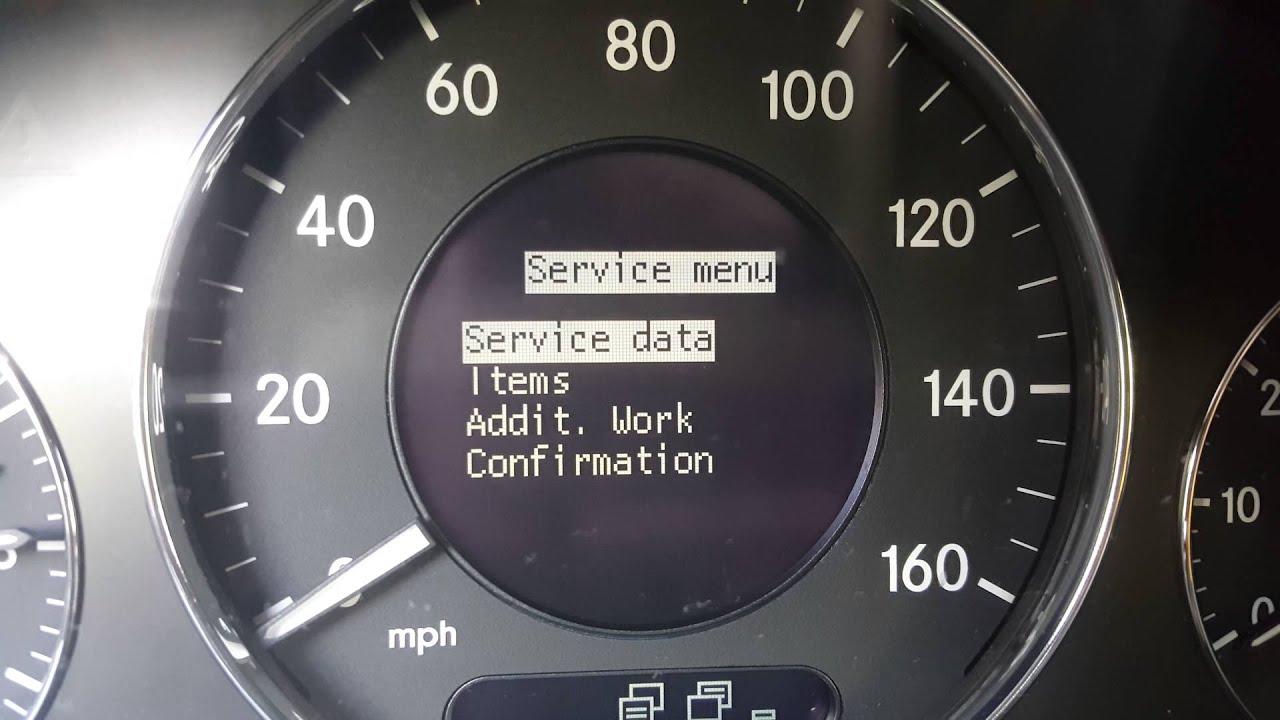 02- 08 mercedes benz e320 oil change service warning reset