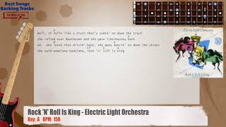 Rock 'N' Roll Is King - Electric Light Orchestra ELO Bass Backing Track with chords and lyrics