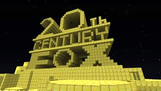 20th Century FOX intro in Minecraft