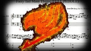 Fairy Tail: Main theme FULL pedal version sheet music (+MIDI) tutorial