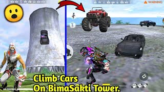 How to Climb Cars on BimaSakti Tower😮🤫// Free fire Tips & Tricks!!