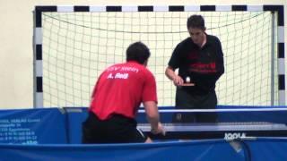 Tischtennis Oberliga DJK Sp Effeltrich vs TSV Stein 27 C.Kalb vs A.Reiss