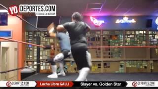 Slayer sufre para ganarle a Golden Star Rangel en el Odeum de Villa Park Lucha Libre GALLI