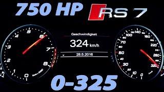 Audi RS7 Acceleration 0-325 Autobahn Onboard V8 Sound 750 HP MF-RS750 Milltek exhaust