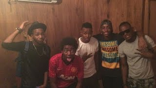 Hernâni em estúdio com Sleam Nigger, Exodus, Duas Caras, B3 Money e D-Lon