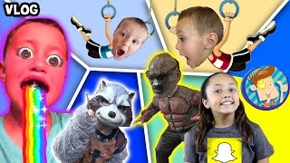 Guardians of the Galaxy Scare Cam / Chase's Twin / Snapchat Rainbow Mouth More (FUNnel Vision Vlog) width=