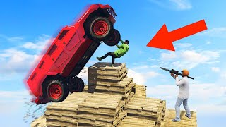 DESTROY THE PYRAMID PLATFORM CHALLENGE! (GTA 5 Funny Moments)