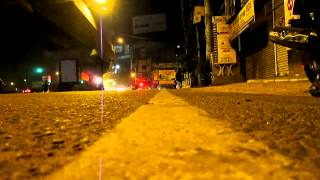 FREE Stock Footage [HD] of a City Road in the Night