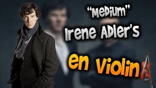 Sherlock Soundtrack - Irene Adler's Theme en Violín|tab,tutorial,partitura,como tocar|HD Tutorial