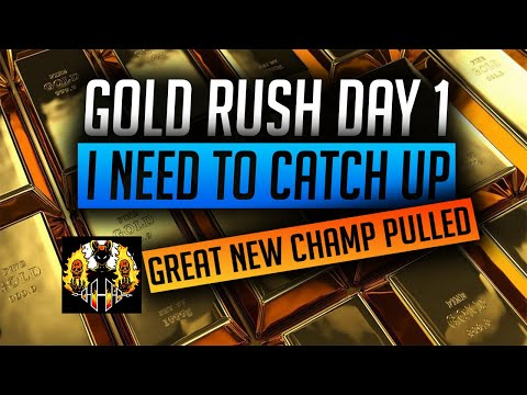 RAID: Shadow Legends | GOLD RUSH DAY 1 UPDATE! I NEED TO CATCH UP! NEW SHARD PULL WAS DECENT!
