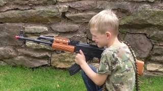 Toy AK-47 Assault Rifle With Flashing Lights And Sound