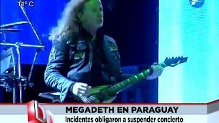 Así comenzaron los incidentes en el concierto de Megadeth