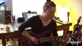 Adagio new album LIFE - Recording Rhythm Guitars #1