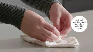 A video on napkin folding