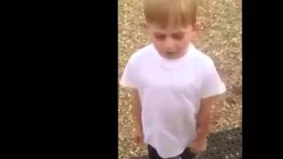 Young Irish boy singing  horse outside-FUNNY SONG. MUST WATCH