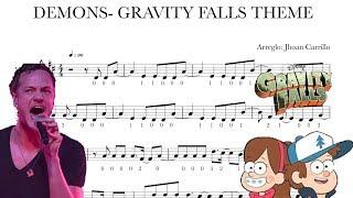 DEMONS AND GRAVITY FALLS MEDLEY Violin - Guitar