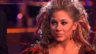 Shawn Johnson Derek Hough and Ft  Mark Ballas   Samba Trio Dance  Dancing with the Stars Week 8