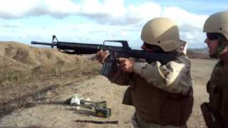 shooting the m16 at full auto