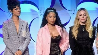 Madonna, Rihanna, Beyoncé, Nicki Minaj signing the Tidal For All contract 2015