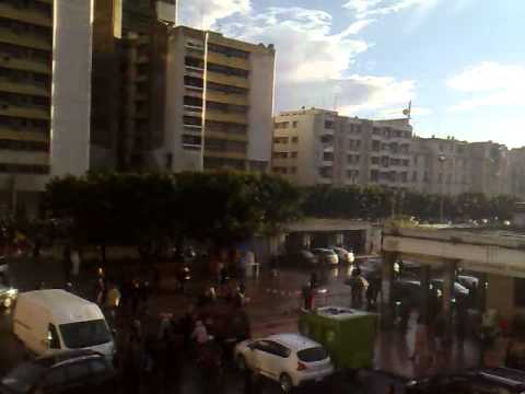Street demonstration in Rabat city center 2011 Morocco
