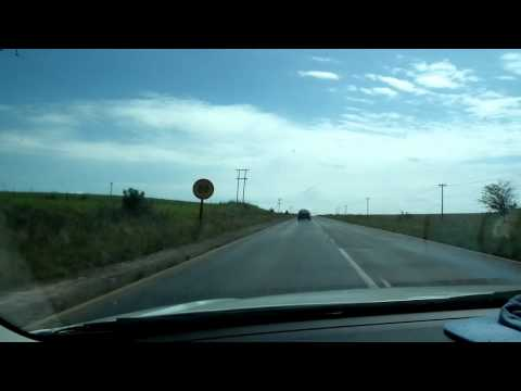 Scenery during driving , Free State, South Africa
