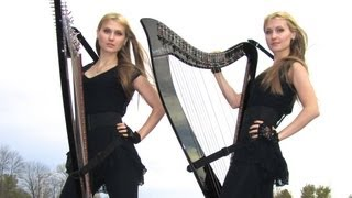 WITH OR WITHOUT YOU ( U2 ) Harp Twins - Camille and Kennerly HARP ROCK