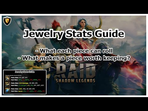 RAID Shadow Legends | Jewelry Stats Guide