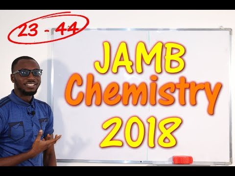 JAMB CBT Chemistry 2018 Past Questions 23 - 44
