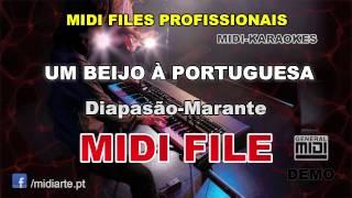 ♬ Midi file  - UM BEIJO À PORTUGUESA - Diapasão-Marante