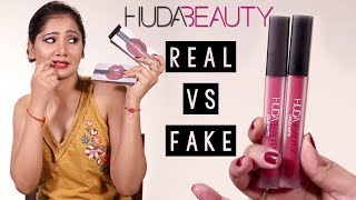 Real VS Fake Huda Beauty Liquid Matte Lipsticks | How To Identify Fake Makeup