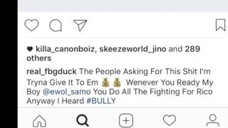 Fbg Duck Calls Out Rico Recklezz X Snap Dog X Ewol & more - I'll beat tf out y'all