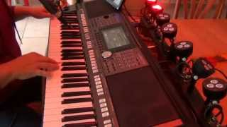 Yamaha PSR S970 the small Tyros with Brown Eyed Girl - vocal cover