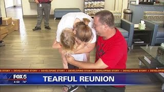 TEARFUL REUNION: Girl, 4, reunited with family after kidnapping