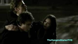 The Vampire Diaries 1X22 Stefan Saves Damon
