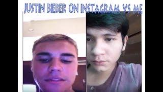 Me Vs Justin Bieber Singing Despacito/ Pranks on Instagram Live Stream
