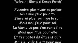 Elams ft. Kenza Farah - Petit Frère (Paroles/Lyrics)