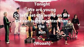 Glee - We Are Young WITH LYRICS!