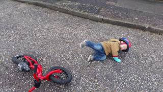 My son's shocking bicycle accident 2! Original.