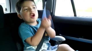 Mateo singing Telephone from Lady Gaga.