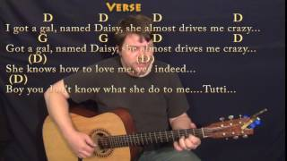 Tutti Frutti (Little Richard) Fingerstyle Guitar Cover Lesson in D with Chords/Lyrics