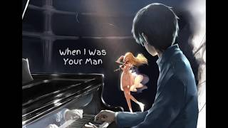 When I Was Your Man [Live Studio Version] Nightcore - Bruno Mars
