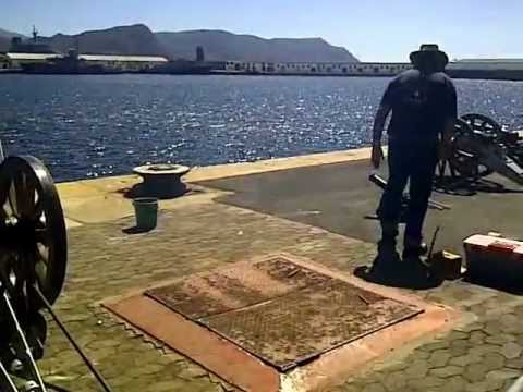 South African Navy Festival 2012 – live canon firing