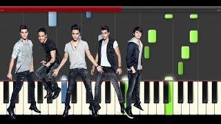 CNCO Tan Facil piano midi tutorial sheet partitura cover how to play karaoke
