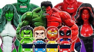 Red Hulk, She-Hulk Avengers Go~! Spider-Man, Iron Man, Captain America! Venom, Thanos
